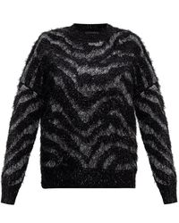 AllSaints Tiger patterned sweater - Negro