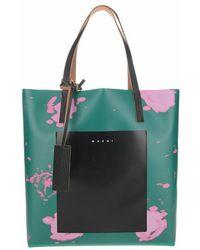 Marni Abstract-print Tote Bag - Groen