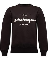 Ferragamo Sweatshirt with logo - Noir