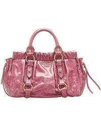 Miu Miu Vintage Leather Handbag - Roze