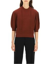 See By Chloé Puff-sleeves sweater - Rojo