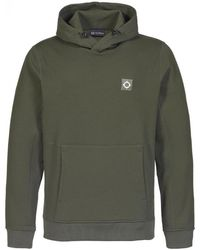 MA.STRUM Tech fleece overhead hood sweat - Verde