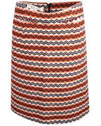 Marni Jacquard Knee Length Pencil Skirt - Oranje