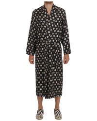 Dolce & Gabbana - Silk Robe - Lyst
