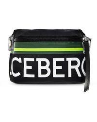 Iceberg Belt Bag With Logo - Zwart
