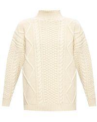 Agnona Rib-knit turtleneck sweater - Neutre
