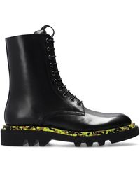 Givenchy Leather Combat Boots - Zwart