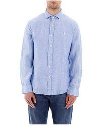 Polo Ralph Lauren Chambray Linen Shirt - Blauw