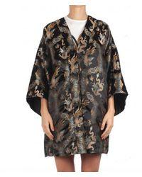WEILI ZHENG Bomber Taglio Kimono - Zwart