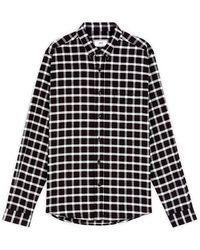 AMI - Button-down Checked Shirt - Lyst
