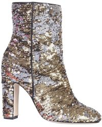 Paris Texas Boots With Sequins - Geel