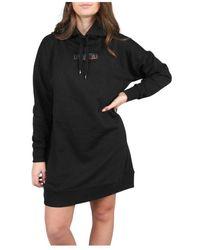 NIKKIE Style Code Hoodie Dress - Zwart