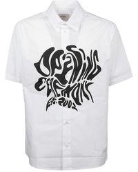 Opening Ceremony Shirt melted logo - Blanco