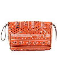 Hermès Pochette in seta Paisley - Arancione