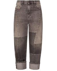 DIESEL D-Reggy jeans with stitching details - Grigio