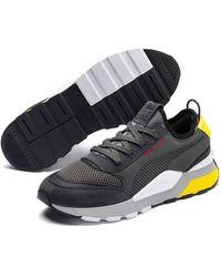 PUMA Rs-0 369469 03 Dark Shadow/blazing Yellow Sneaker - Grijs