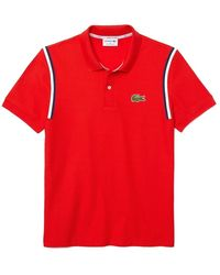 Lacoste Made in France Polo - Rosso