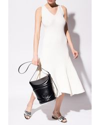 AMI Sleeveless dress Beige - Neutro
