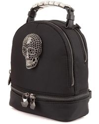 Philipp Plein Nylon Backpack Negro