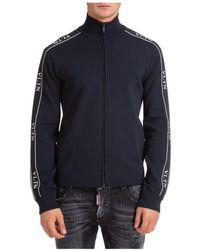 Valentino Sweatshirt With Zip Sweat - Blauw