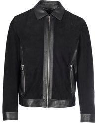 Dolce & Gabbana Suede Jacket - Zwart