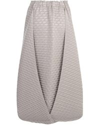 Issey Miyake Pleats Solid Skirt Gris
