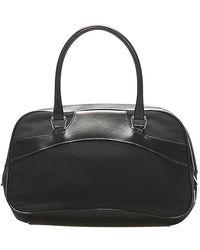 Saint Laurent Tessuto Handbag - Noir