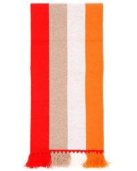 Burberry Striped Logo Scarf - Oranje