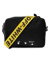 Off-White c/o Virgil Abloh Shoulder Bag With Logo - Zwart