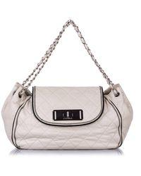 Chanel Accordion Cc Reissue Shoulder Bag - Naturel