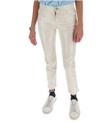 Laneus Slim Fit Trousers - Wit