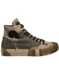 Gabriele Pasini High top leather sneakers - Vert