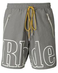 Rhude Printed Logo Shorts - Grijs