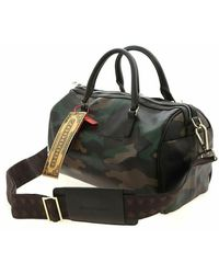 Sprayground Check Split Mini Duffle Bag Marrón