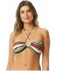 Vince Camuto Bikini Top Tidal Stripe - Groen