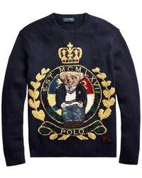 Polo Ralph Lauren Poloshirt Bear Crest - Blauw