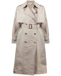 Alexander McQueen Oversize Trench Coat - Grijs