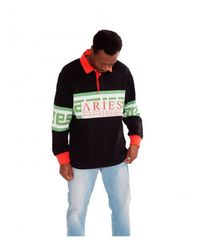 Aries Polo Meandros Rugby Shirt Negro