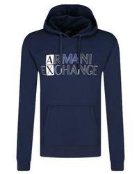 Armani Exchange Hoodie 3kzmgl - Blauw