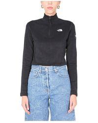 The North Face Cropped Sweatshirt - Zwart