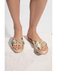 Kate Spade Saltie Shore leather slide sandals Gris