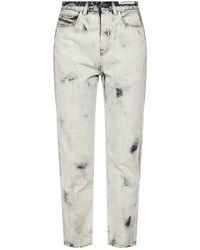 DIESEL 'd-eiselle' Printed Jeans - Wit