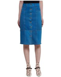 Marine Serre Skirt - Blu