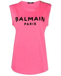 Balmain T-shirt - Roze