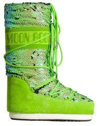Moon Boot Botas Altas Classic Disco - Groen