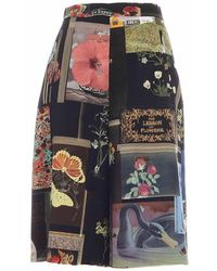 Vivetta Moodboard Print Shorts - Zwart