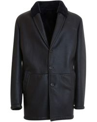 Corneliani Shearling Coat - Zwart