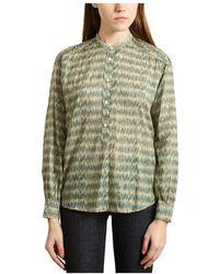 Hartford Cotton Veil Cody Shirt - Groen