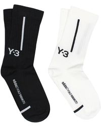Y-3 Crew Socks - Zwart