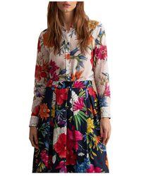 GANT D2. Humming Floral Co/silk Shirt - Neutro